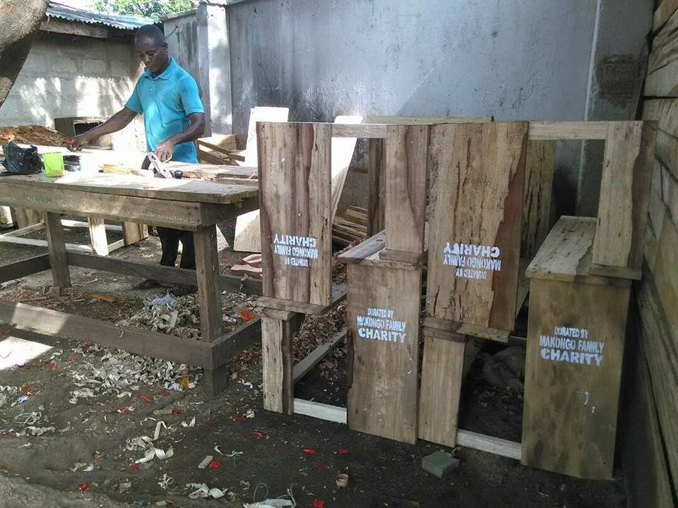 Donation of benches in Nigeria